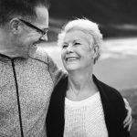 Older couple looking happy with no age spots